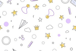 Successful Icons Seamless Pattern