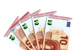 Fifty euro in bundle of banknotes