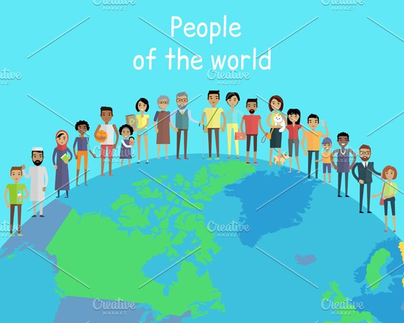 people of the world illustrations creative market