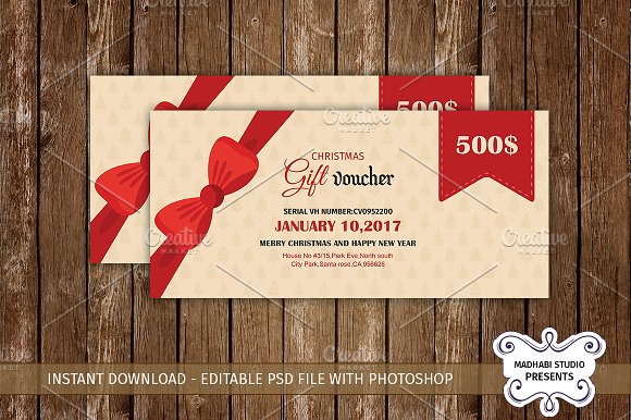 multipurpose gift voucher template stationery