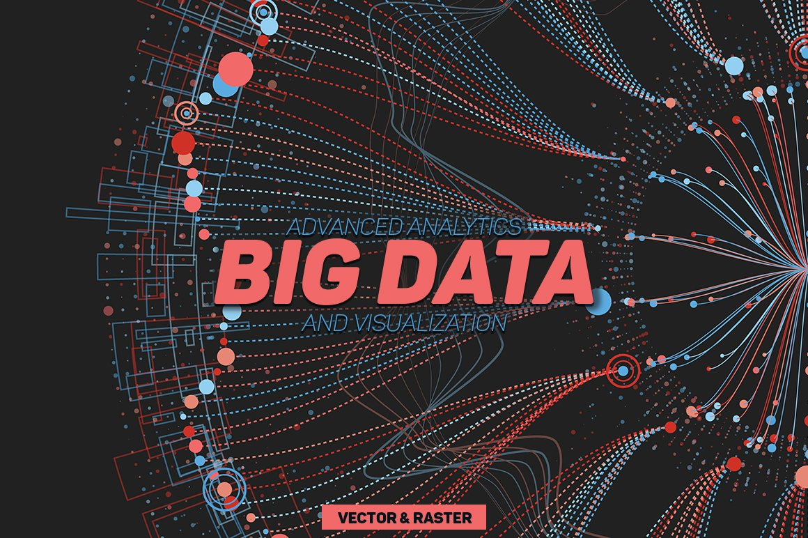 30 Big Data Abstract Backgrounds Graphic Objects