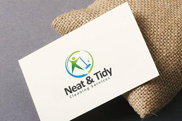 Neat and tidy cleaning logo logo templates creative market colourmoves