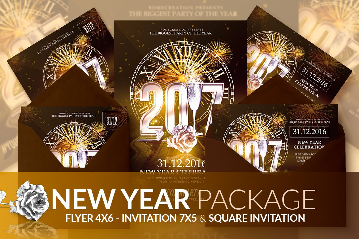 peace dove new year cards pack of 6 classy nye 2017 psd package templates creative market