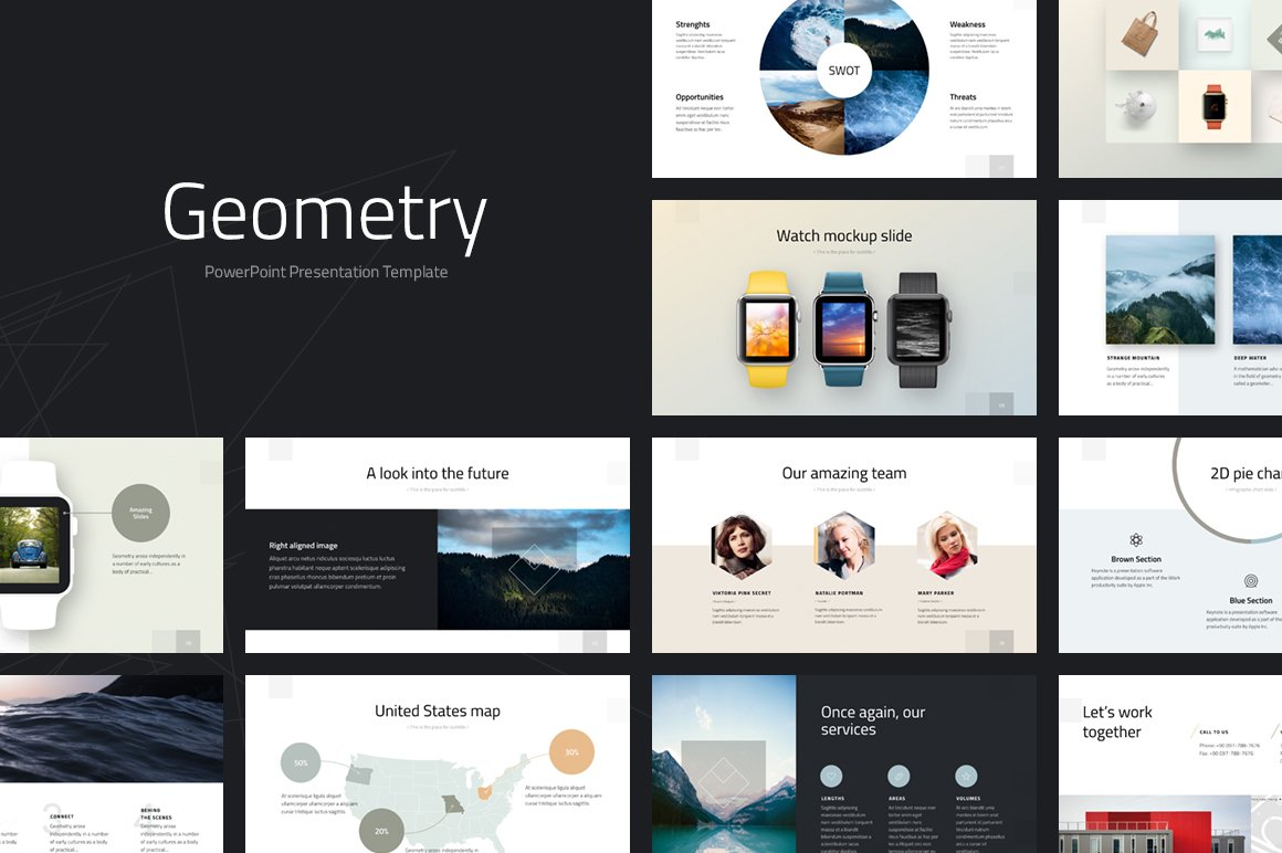 geometry powerpoint template presentation templates creative market
