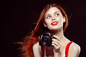Pretty girl with the camera