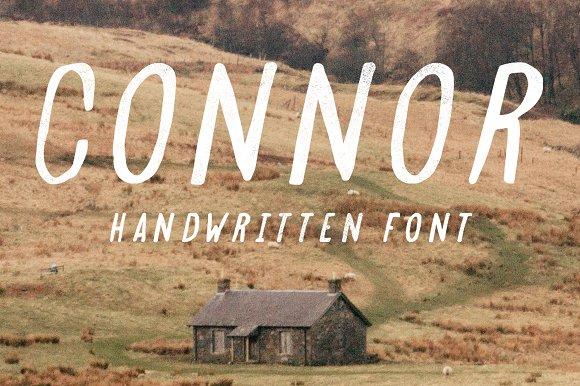 Connor Handwritten Typeface