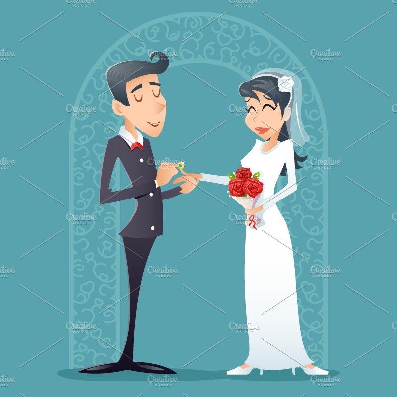 Bride And Groom Illustrations Creative Market