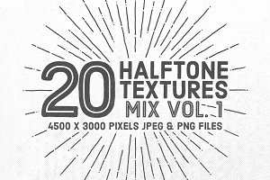 20 Halftone Textures Mix Vol. 1