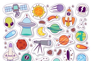 Solar system astronomy icons
