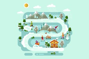 Winter Fun Vector Illustration