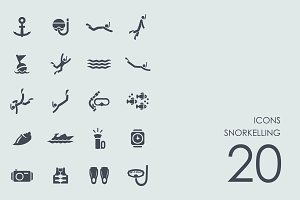 Snorkelling icons