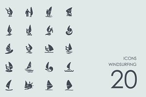 Windsurfing icons