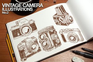 Vintage Camera Illustrations No.2