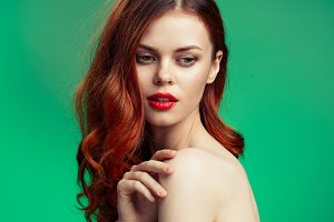 beauty red-haired woman