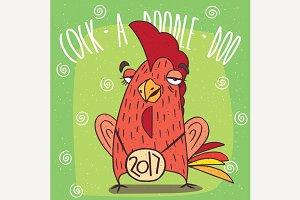 Drunken cock or rooster