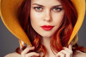 beauty woman Red lips