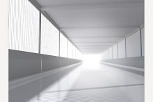 White interior 3D rendering