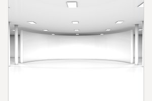 White interior 3 render