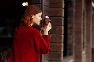 redheaded girl photographer