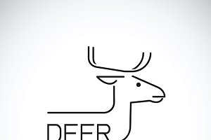 Vector of a deer design.