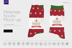Melange Socks Mock-up