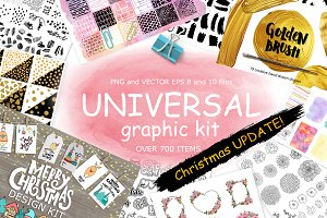 Universal graphic + Christmas kit