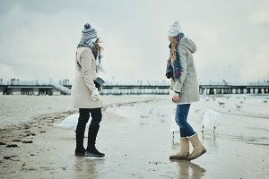 Girls on the Winter Sea