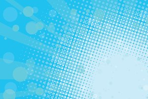Light blue halftone retro background