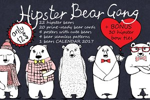 Hipster Bear Bundle