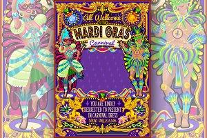 Mardi Gras Carnival Poster Theme