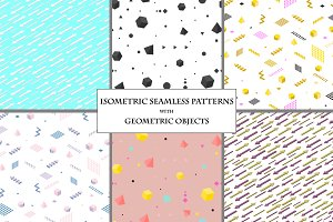 Isometric Seamless Patterns.