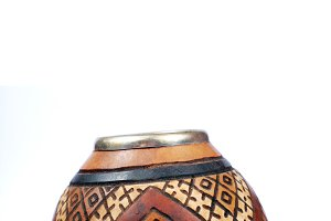 calabash with ethnic ornament