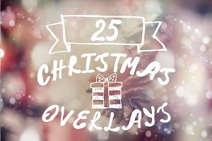25 Christmas overlays