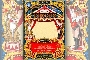 Circus Funfair Carnival Poster Theme