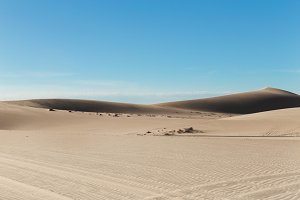 White sand dunes at Mui Ne village Vietnam