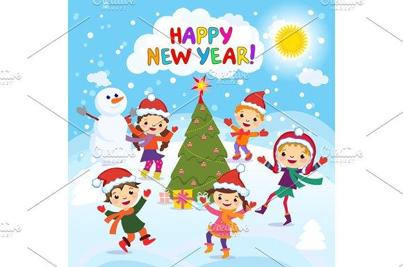 Happy New Year. 2017. Winter fun - Graphics