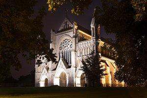 St Albans abbey church illumination England UK