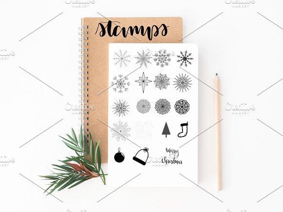 Procreate Christmas Stamps Brush