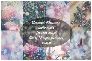 Set of 10 Holiday backgrounds