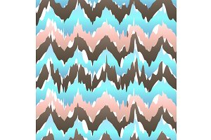 Ikat geometric seamless pattern