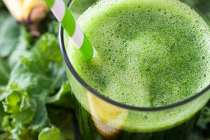 Kale smoothie with fruits