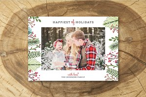 Christmas Card Template 041