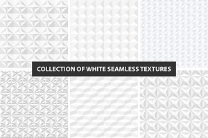 White decorative seamless textures