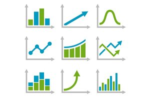 Graph Icons Set