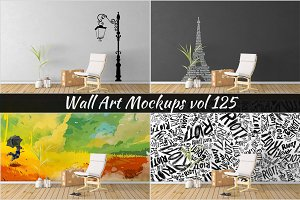 Wall Mockup - Sticker Mockup Vol 125