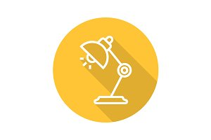 Desk lamp icon. Vector