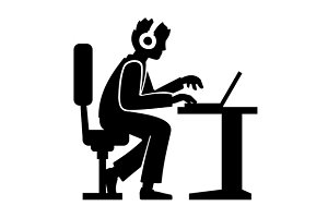 Working Programmer Silhouette