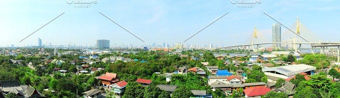 Bangkok suburb - panoramic view.jpg - Architecture