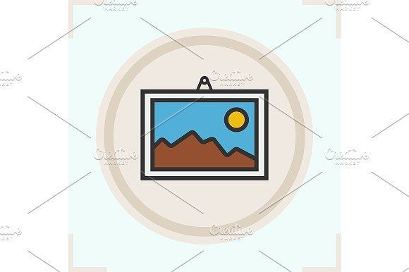Wall painting icon. Vector - Icons
