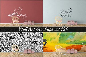 Wall Mockup - Sticker Mockup Vol 126